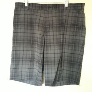 Nike Golf gray and black plaid shorts